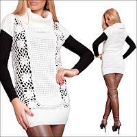 Женская вязаная кофта с коротким рукавом, теплая женская одежда