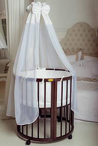 Круглая кроватка /Овальная кроватка  7 в 1 ореховая