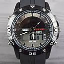 Часы с солнечной панелью Skmei Мод.1064, черные, в металлическом боксе, фото 4