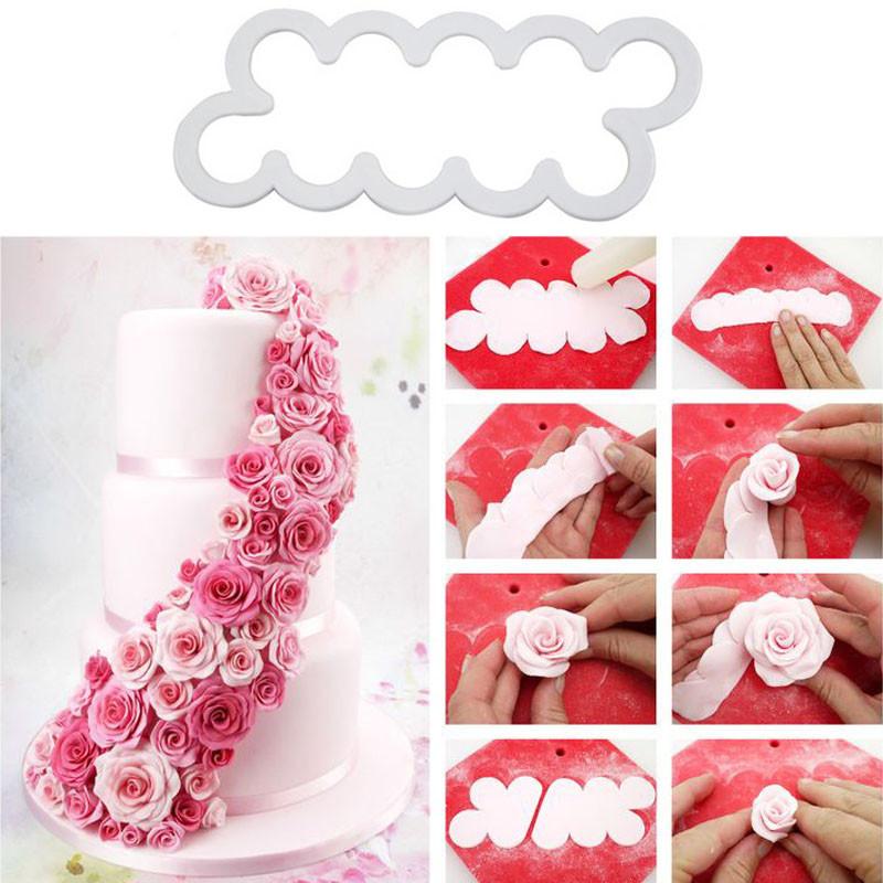 Набор пластиковых вырубок Роза, 3 шт