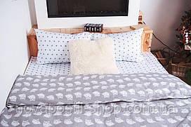 Совы на сером, постельное белье из ранфорса (100% хлопок)