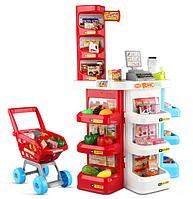 Детский супермаркет с тележкой  и кассовым аппаратом