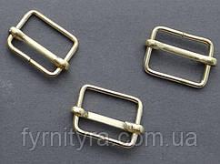 Протяжка металл (регулятор длины) 20мм, 710-00 золото