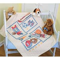 Набор для вышивания крестом Детский спорт/Little Sports Quilt DIMENSIONS 73255