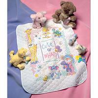 Набор для вышивания крестом Милые... Или как?/Cute…Or What? Baby Quilt DIMENSIONS 72724