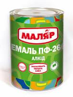 Емаль ПФ-266 жовто-коричнева Маляр (0,8кг)