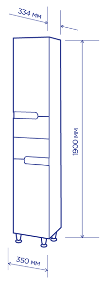 чертеж пенала симпл-венге