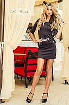 Платье лакост | Шоколадка с золотом sk, фото 3