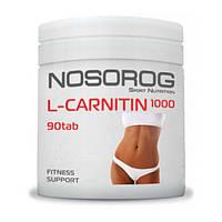 Карнитин жиросжигатель Nosorog Nutrition L-Carnitin 1000 90 таблеток