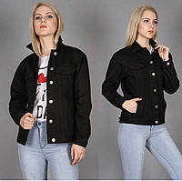Модная женская черная джинсовая куртка Турция