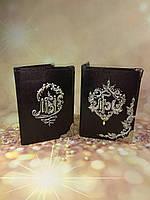 """Обложка на паспорт """"Для двоих"""" в стиле точечной росписи, фото 1"""