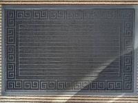90 на 60 велюр с окантовкой(черный)