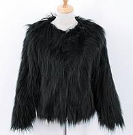 Женская шуба из искусственного меха, черная СС-8459-10