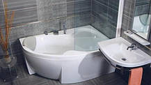 Акриловая ванна Bisante Роза (Правая) 1400х1050х580 мм, фото 2
