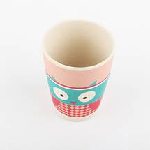 Набор посуды из бамбукового волокна Owl YOOKIDOO детская посуда, фото 3