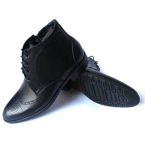 0456398e26fc Новинка Зимняя мужская обувь Икос Луцк  классические кожаные ботинки,  черного цвета, с перфорацией,