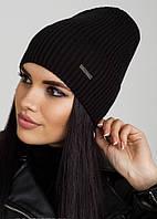 Черная шапочка-колпак с отворотом Ivy Flip Uni