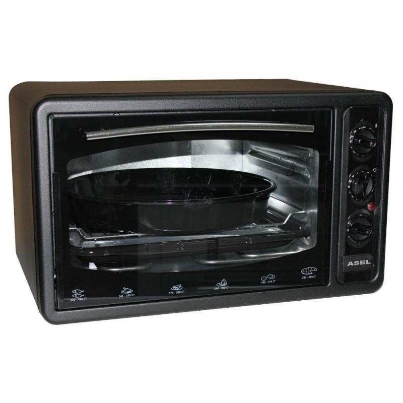 Электрическая духовка ASEL AF - 0123 объёмом 40 литров Турция ( черная )