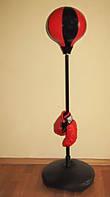 Боксёрский набор,груша на стойке(высота 80 до 110 см),перчатки,в коробке!Акция