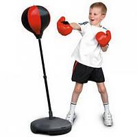 Боксёрский набор,груша на стойке(высота 90 до 130 см),перчатки,в коробке!Акция
