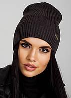Удлиненная шапочка с отворотом Ivy Flip Uni темно-серая