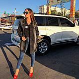 Женская джинсовая куртка Woox  (кардиган) удлиненная , фото 4