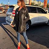 Женская джинсовая куртка Woox  (кардиган) удлиненная , фото 3