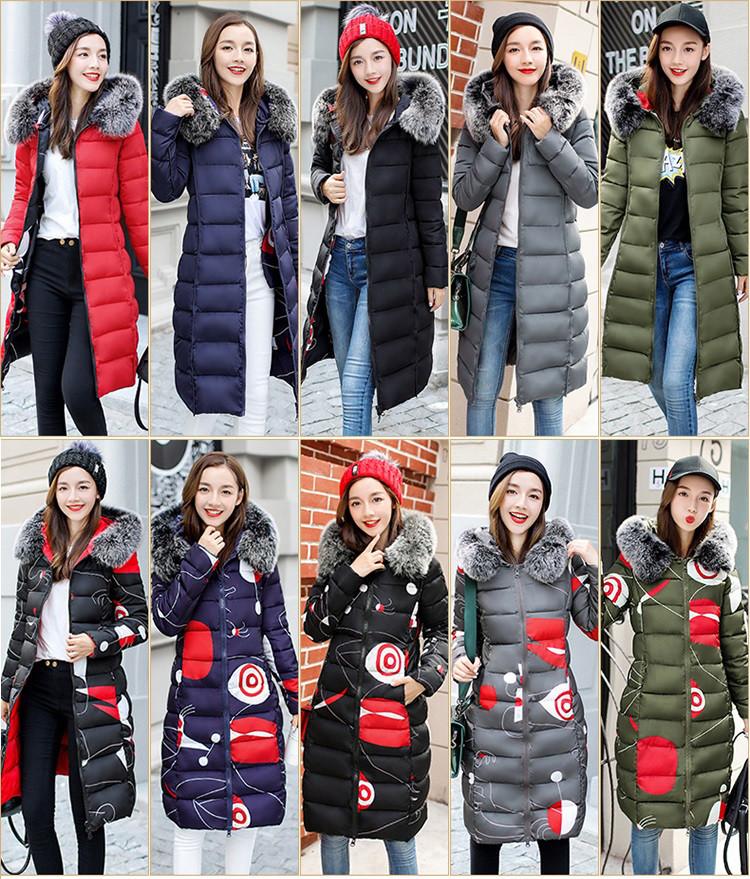 Двустороннее женское зимнее пальто пуховик парка с принтом абстракция и мех на капюшоне
