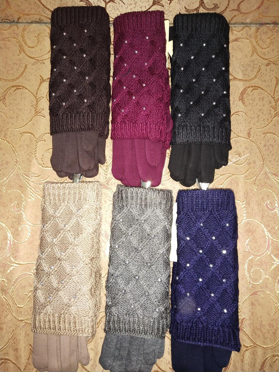 Вязание шерсти Трикотаж женские перчатки Anna-мода только оптом