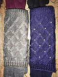 Вязание шерсти Трикотаж женские перчатки Anna-мода только оптом, фото 3