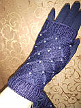 Вязание шерсти Трикотаж женские перчатки Anna-мода только оптом, фото 2