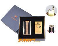 Карманная Зажигалка Электроимпульсная+Cпираль накаливания Pantheraa (USB) №XT-4868-2. Материал - металл