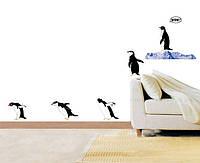 """Декоративные наклейки на стены """"Прыгающие пингвины"""""""