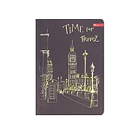 "Скетчбук А6, чёрные и белые листы ""Time for travel"""