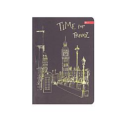 """Скетчбук А6, чорні та білі аркуші """"Time for travel"""""""