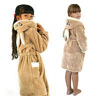 af0f05fb0bebf Детский махровый халат с ушками