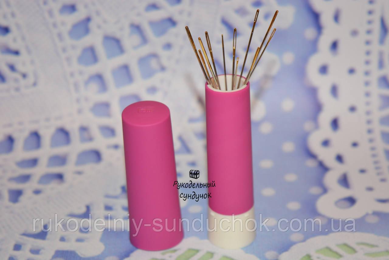 Вращающаяся игольница-твистер Prym + 15 иголок (с магнитом внутри) (без упаковки)