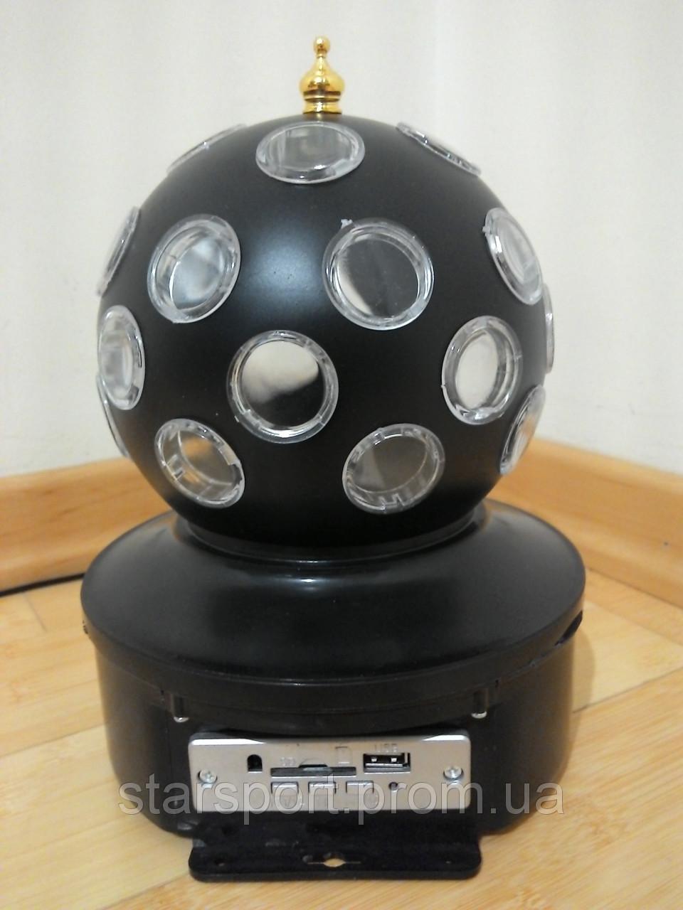 Диско шар Led Crystal Magic Ball Light - праздничное освещение