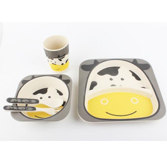 Посуда для детей с Коровкой Cow из бамбуковых волокон противомикробная