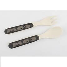 Посуда для детей с Коровкой Cow из бамбуковых волокон противомикробная, фото 3