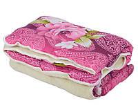 Одеяло ОТКРЫТОЕ овечья шерсть (Поликоттон) Двуспальное T-51229