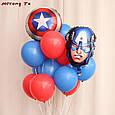 """Фольгований куля """"Капітан Америка"""" голова , 45 * 30 див., фото 2"""