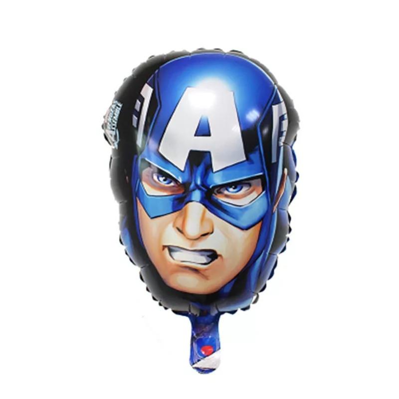 """Фольгований куля """"Капітан Америка"""" голова , 45 * 30 див."""