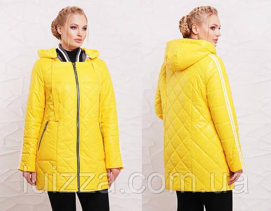 Женская демисезонная куртка 50-60 р желтый, фото 2