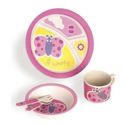 """Бамбуковая посуда для детей """"Бабочка"""" с антибактериальным ефектом , фото 2"""