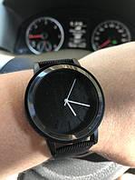 Стильные женские наручные часы с черным ремешком код 402 чер