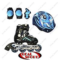 Роликовые коньки для детей Comfortflex Combo Amigo Sport, XS (28-31), голубые, фото 1