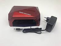 R201800431 Лампа для маникюра Diamond  36Вт Красная, фото 1