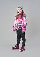 Зимняя куртка пуховик для девочки Reima 531348-3695. Размер 104-140.