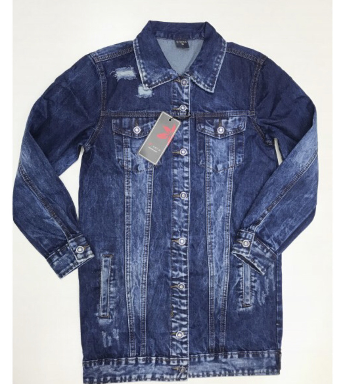 Женская удлиненная джинсовая куртка M.Sara